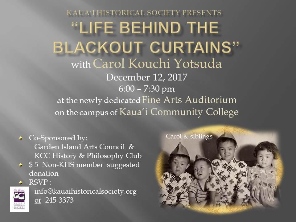 Life Behind the Blackout Curtains with Carol Kouchi Yotsuda